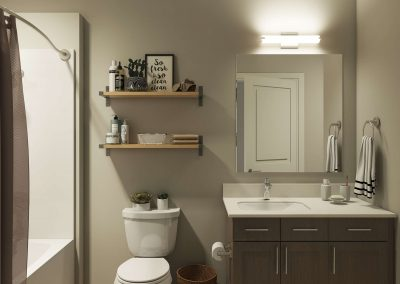 Individual bathrooms for all bedrooms.