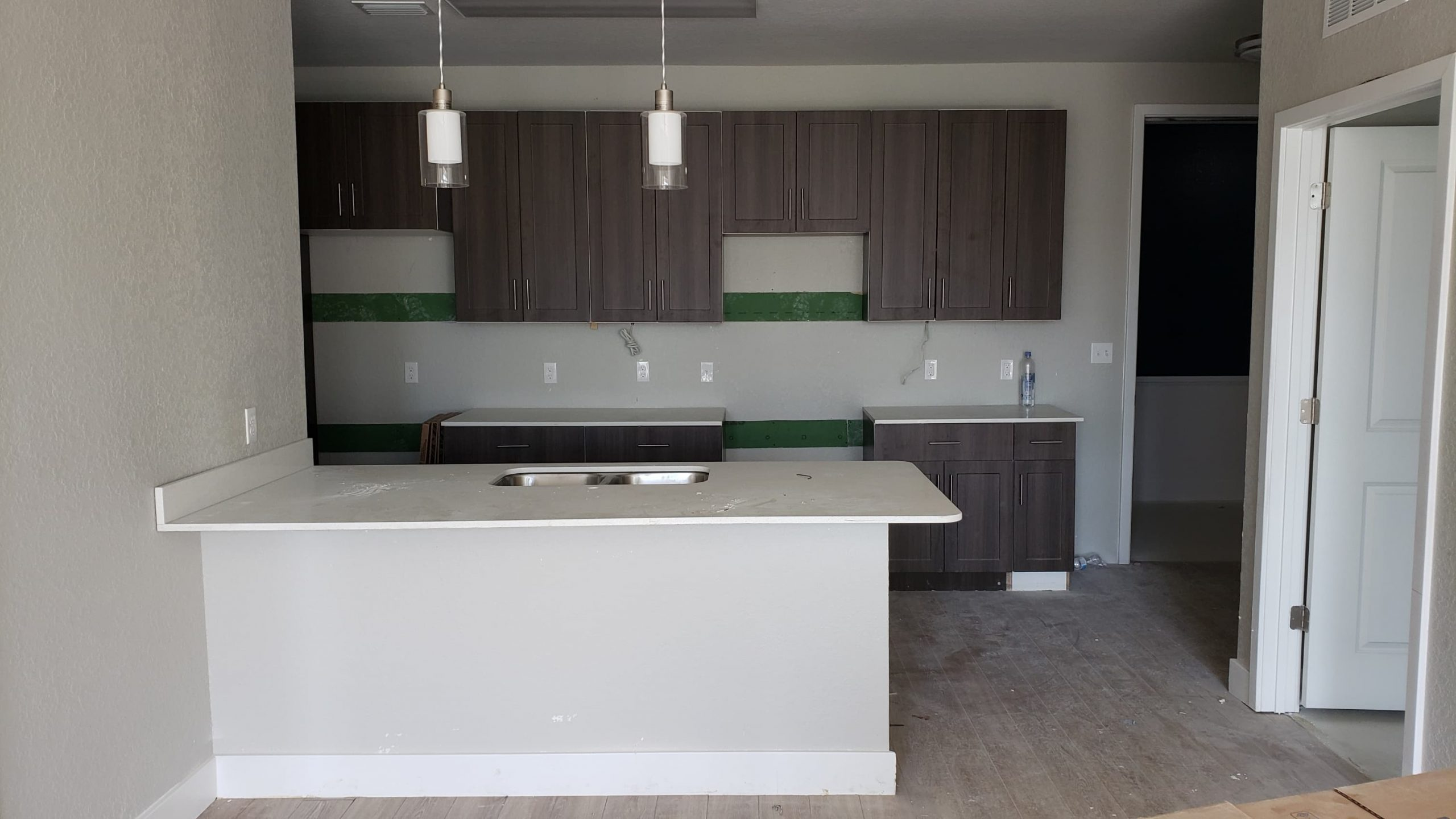 Kitchen Area of an Apartment at LIV+ Gainesville