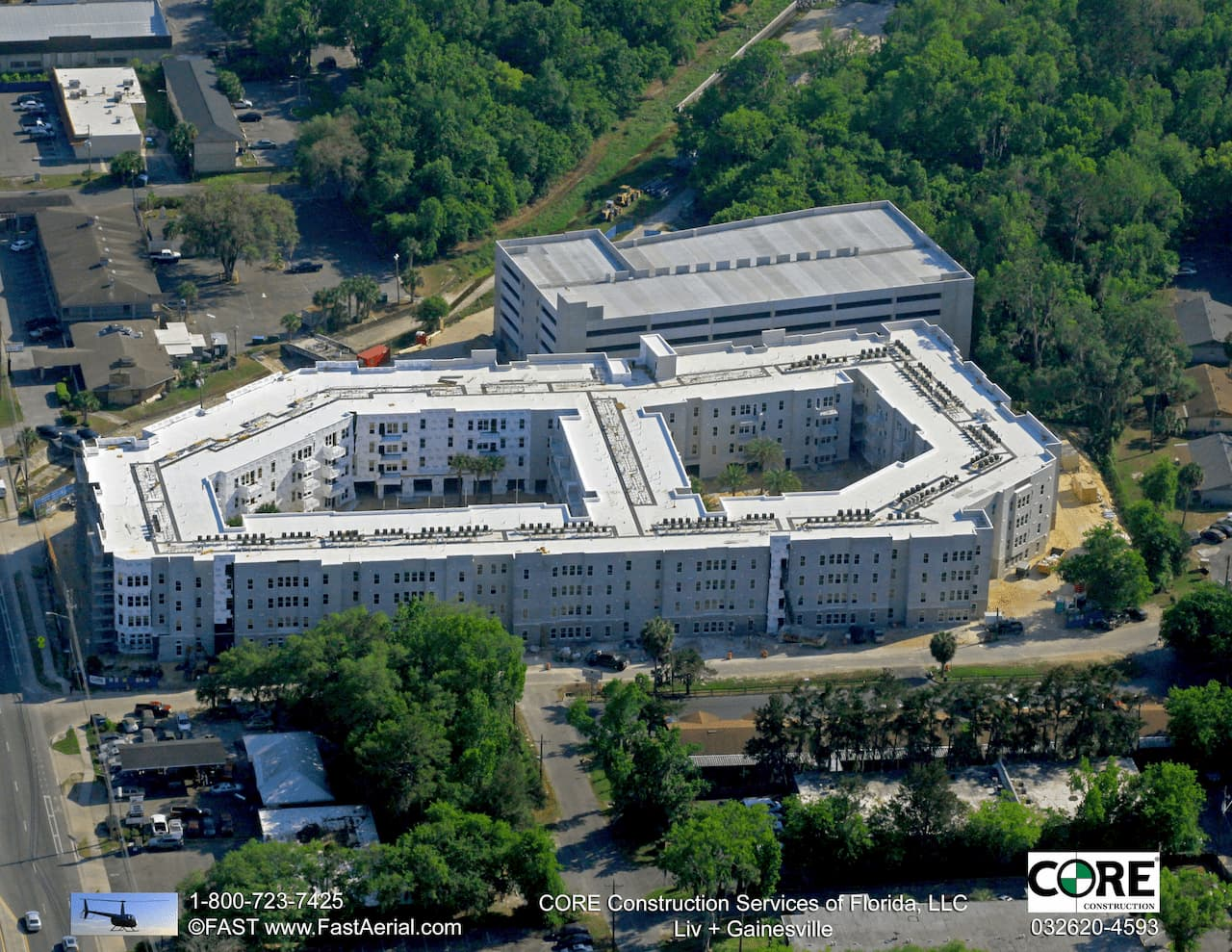 Aerial View of Liv+ Gainesville Apartments