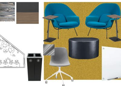 Floor Plan Design of a Study Room at Liv+ Gainesville