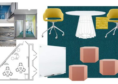 Floor Plan Layout of the Study Rooms at Liv+ Gainesville Apartments