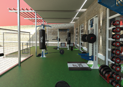 Fitness Area With Free Weights at Liv+ Gainesville