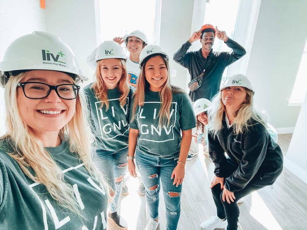 Liv+ Gainesville Construction Team of Six People Posing for a Photo