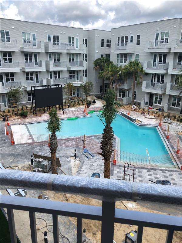View of the Pool at Liv+ Gainesville From an Apartment