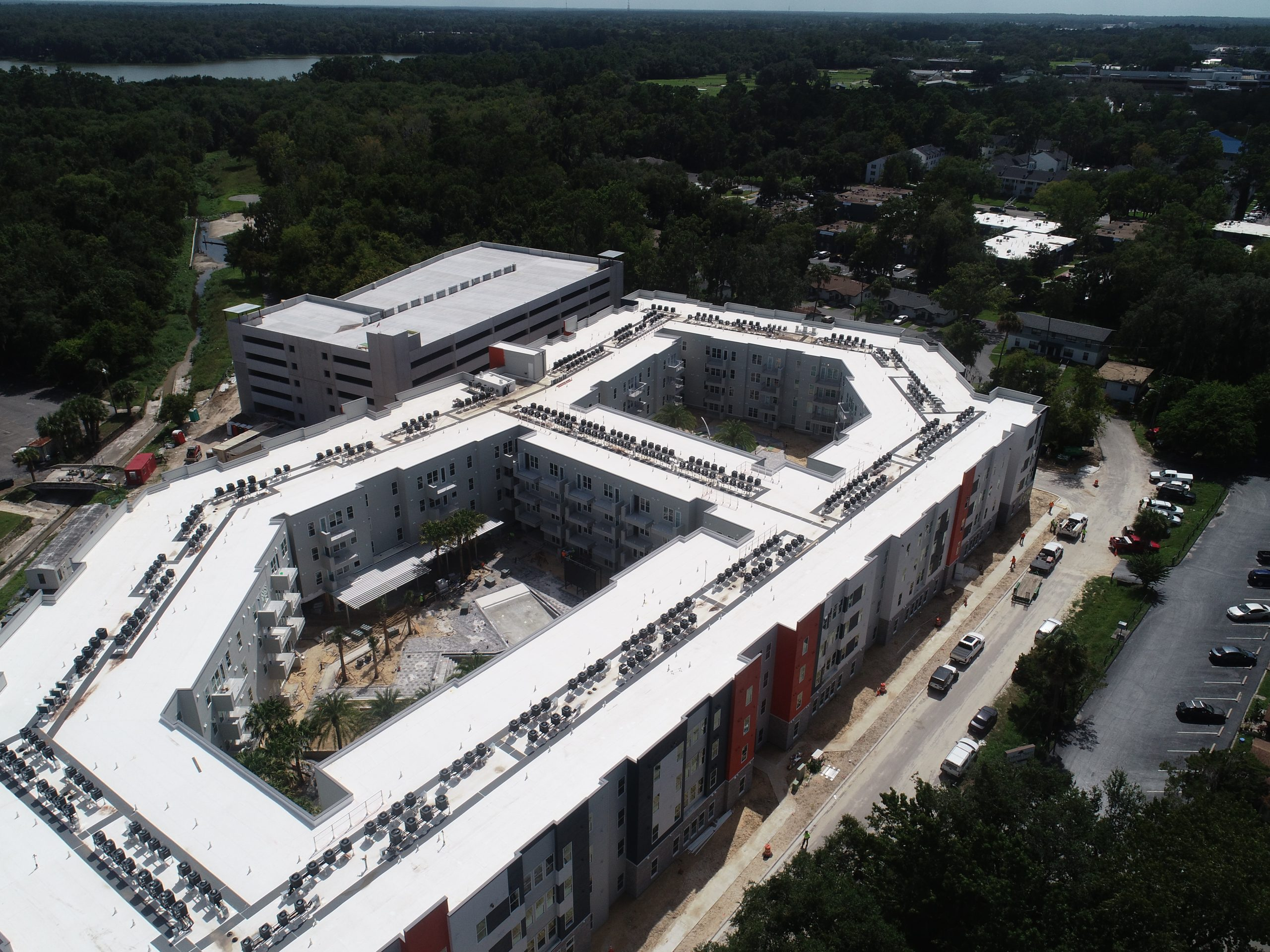 Birds-Eye View of Liv+ Gainesville Apartment Buildings