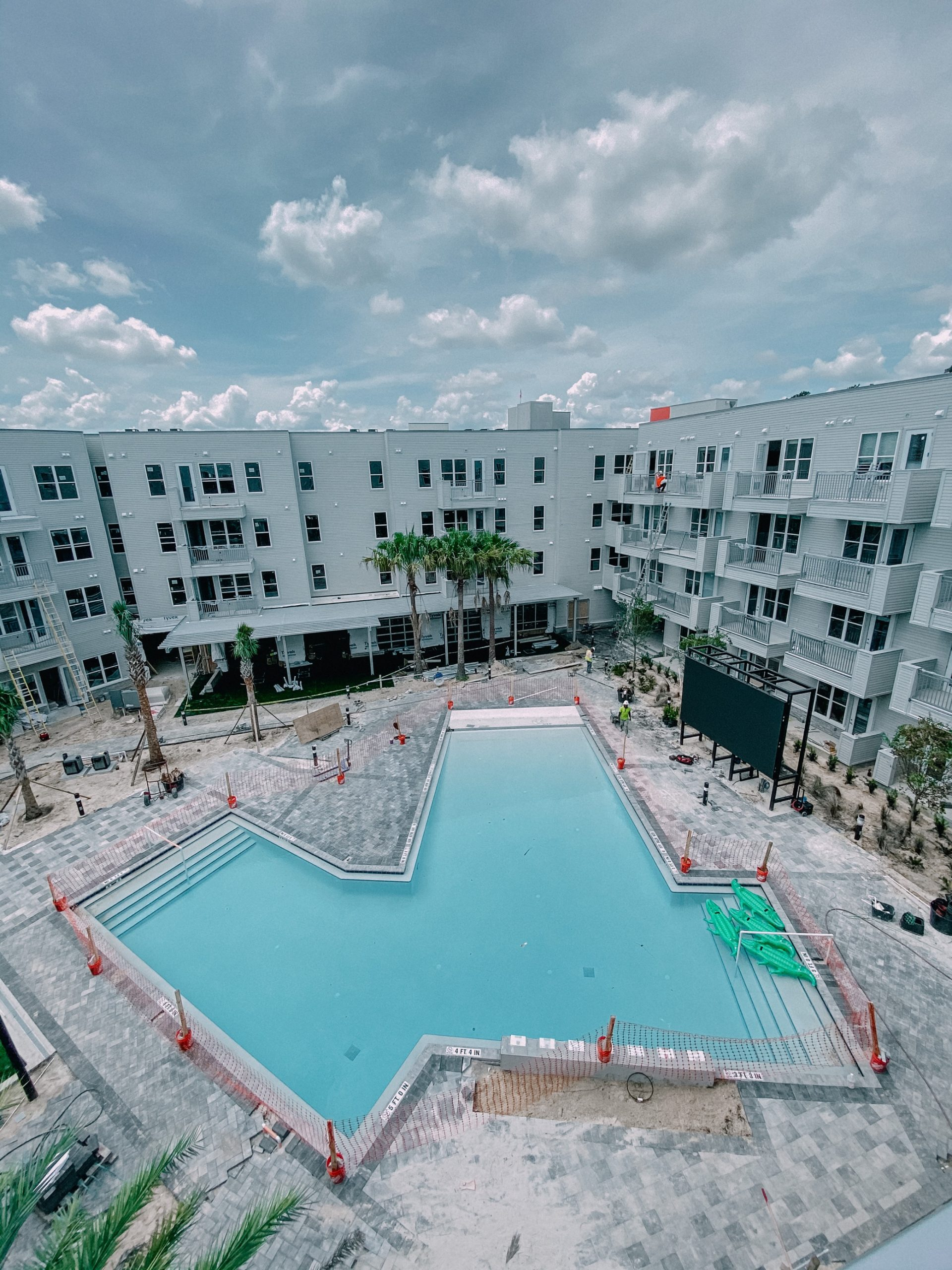 Aerial View of the Pool at Liv+ Gainesville Apartments